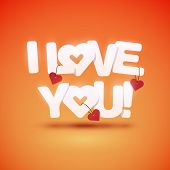 stock photo of avow  - I love you text with hearts - JPG