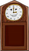 image of roman numerals  - Cartoon antique clock with Roman numerals and smiling face - JPG