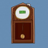 foto of nursery rhyme  - Grandfather clock with digital LCD face and mouse on top - JPG