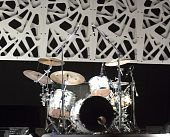 foto of drum-set  - Drum kit on the stage of a concert - JPG