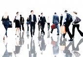 picture of commutator  - Business People Rush Hour Walking Commuting Concept - JPG