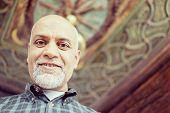 pic of pakistani  - Senior Arabic Pakistani man portrait - JPG