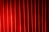 stock photo of opulence  - Red Curtain close - JPG