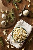 picture of popcorn  - Homemade Rosemary Herb and Cheese Popcorn in a Bowl - JPG