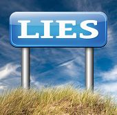 stock photo of tell lies  - lies breaking promise break promises cheating and deception lying  