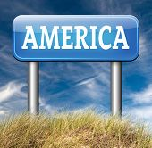 picture of road trip  - America north america or south and central america travel vacation and tourism road trip trough continent road sign