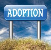 picture of guardian  - child adoption road sign becoming a legal guardian and getting guardianship and adopt young baby 