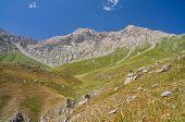 image of shan  - Scenic peaks in mountain range Tien - JPG