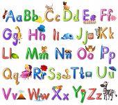 foto of alphabet  - Illustration of an English alphabet poster - JPG