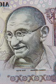picture of gandhi  - Close Up Of An Indian 50 Rupee Note Featuring Mahatma Gandhi - JPG