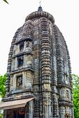 stock photo of hindu temple  - Very old stone carved Hindu temple  - JPG