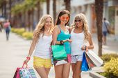 picture of overspending  - Three young girls - JPG