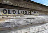 stock photo of log cabin  - Close - JPG