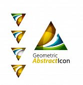 picture of universal sign  - Set of abstract geometric company logo triangle - JPG