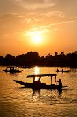 foto of jammu kashmir  - Sunset Dal Lake in Srinagar Jammu and Kashmir state India - JPG