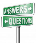 image of solution  - question answer ask the right questions and get an answers help or support desk solving problems and finding solutions