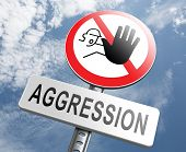 picture of stop fighting  - stop aggression no physical or verbal violance prevention - JPG