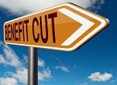 picture of cut  - Benefit cuts tax cut on housing child and social works reduce spending - JPG