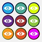 stock photo of intuition  - Eye Publish content sixth sense intuition icon sign - JPG