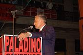 image of underdog  - Carl Paladino the underdog delivering his victory speech after winning the NY primary election for GOP  - JPG