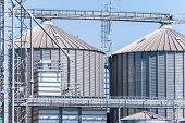 image of silos  - Storage facility cereals and production of biogas - JPG