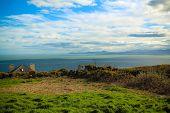 stock photo of irish  - View from Howth hill in Ireland to the Irish sea - JPG