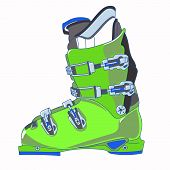 picture of ski boots  - Sports rigid men - JPG