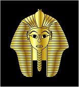 picture of lapis lazuli  - Egyptian style golden pharaoh portrait vector illustration - JPG