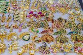 foto of precious stone  - Jewelry made of precious stones and colored stones - JPG