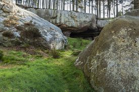 image of raider  - The cave where monks are reputed to have hidden the body of St Cuthbert away from Viking raiders - JPG