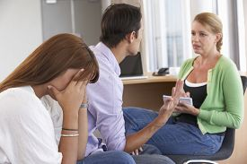 stock photo of counseling  - Couple Having Counselling Session - JPG