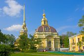 picture of burial-vault  - View of Grand Ducal Burial Vault in Peter and Paul Fortress Saint Petersburg Russia - JPG