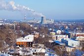 image of chp  - View of Vladimir with thermal power plant in winter - JPG