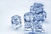 pic of ice-cubes  - melting ice cubes - JPG