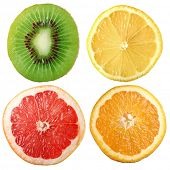 citruses; Object on a white background