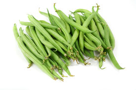 stock photo of green bean  - Green beans on white background - JPG