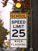 School Speed Limit Sign poster
