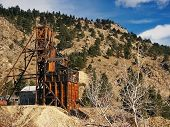 foto of ore lead  - Old 1800s historical Gold Mine in Colorado - JPG