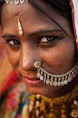 picture of rajasthani  - Portrait of a India Rajasthani woman - JPG