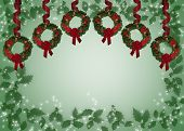 stock photo of christmas wreath  - Illustration and image composition for Christmas background card or invitation - JPG