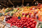 Big Choice Of Fresh Fruit And Vegetable Market. Various Colorful Fresh Fruits And Vegetables. Fresh  poster