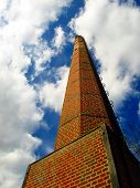 a century old red brick chimney