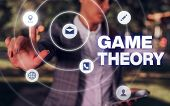 Conceptual Hand Writing Showing Game Theory. Business Photo Showcasing Branch Of Mathematics Concern poster