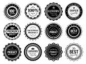Premium Quality Badges. Best Choise Emblem, Vintage Labels And Retro Stencil Badge. Product Quality  poster