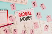 Text Sign Showing Global Money. Conceptual Photo International Finance World Currency Transacted Glo poster