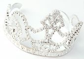 stock photo of pageant  - tiara or crown details on white background - JPG