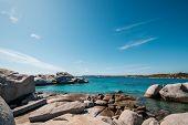 Turquoise Mediterranean And The Rocky Coastline Of Cavallo Island In The Lavezzi Archipelago Off The poster