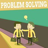 Word Writing Text Problem Solving. Business Concept For Process Of Finding Solutions To Difficult Or poster