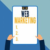 Word Writing Text Web Marketing. Business Concept For Electronic Commerce Advertising Through Intern poster