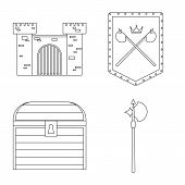 Isolated Object Of Heritage And Ancient Logo. Set Of Heritage And Tournament Vector Icon For Stock. poster